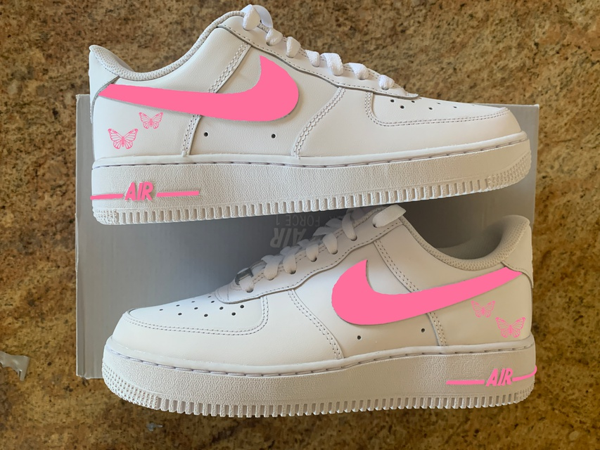 Pink Swoosh & Butterfly Air Force 1