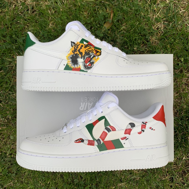 wide varieties nice shoes big sale Gucci Nike Air Force 1   THE CUSTOM MOVEMENT