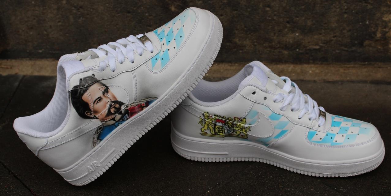 Custom Nike Air Force 1 Airbrush Shoes Sneaker Graffiti