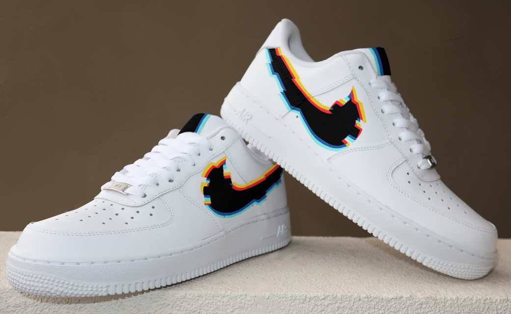Glitch Air Force 1s low
