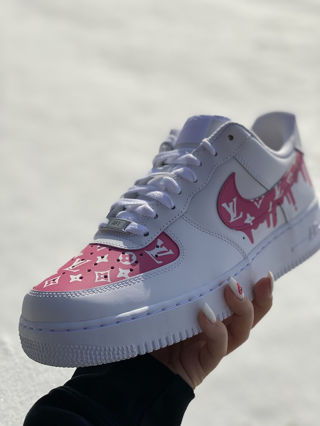 hot pink nike air force ones