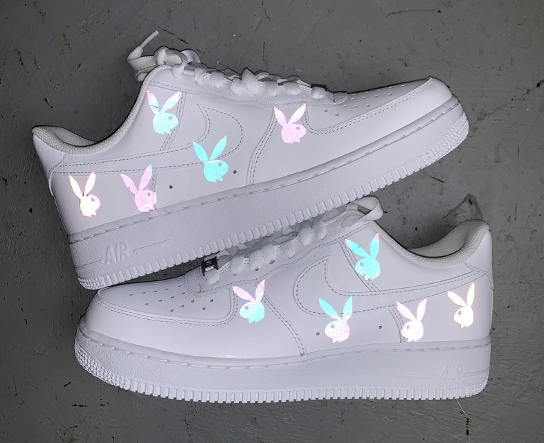 Rainbow Reflective Bunny Air Force 1