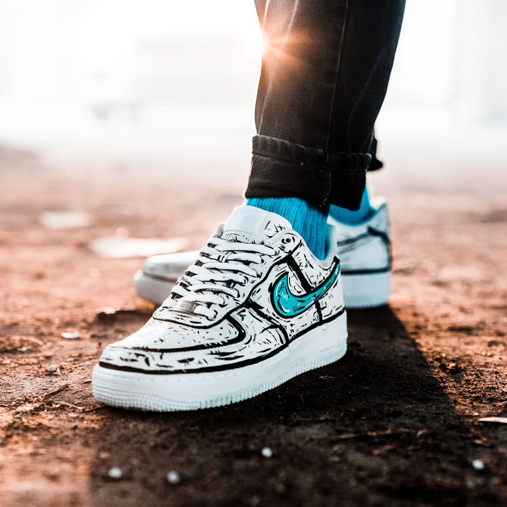 Nike Air Force 1 - Scratch Paints | THE CUSTOM MOVEMENT