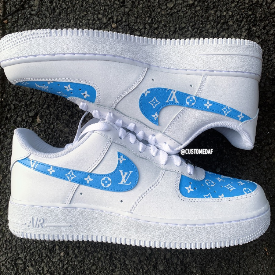 Blue Louis Vuitton Air Force 1 The Custom Movement