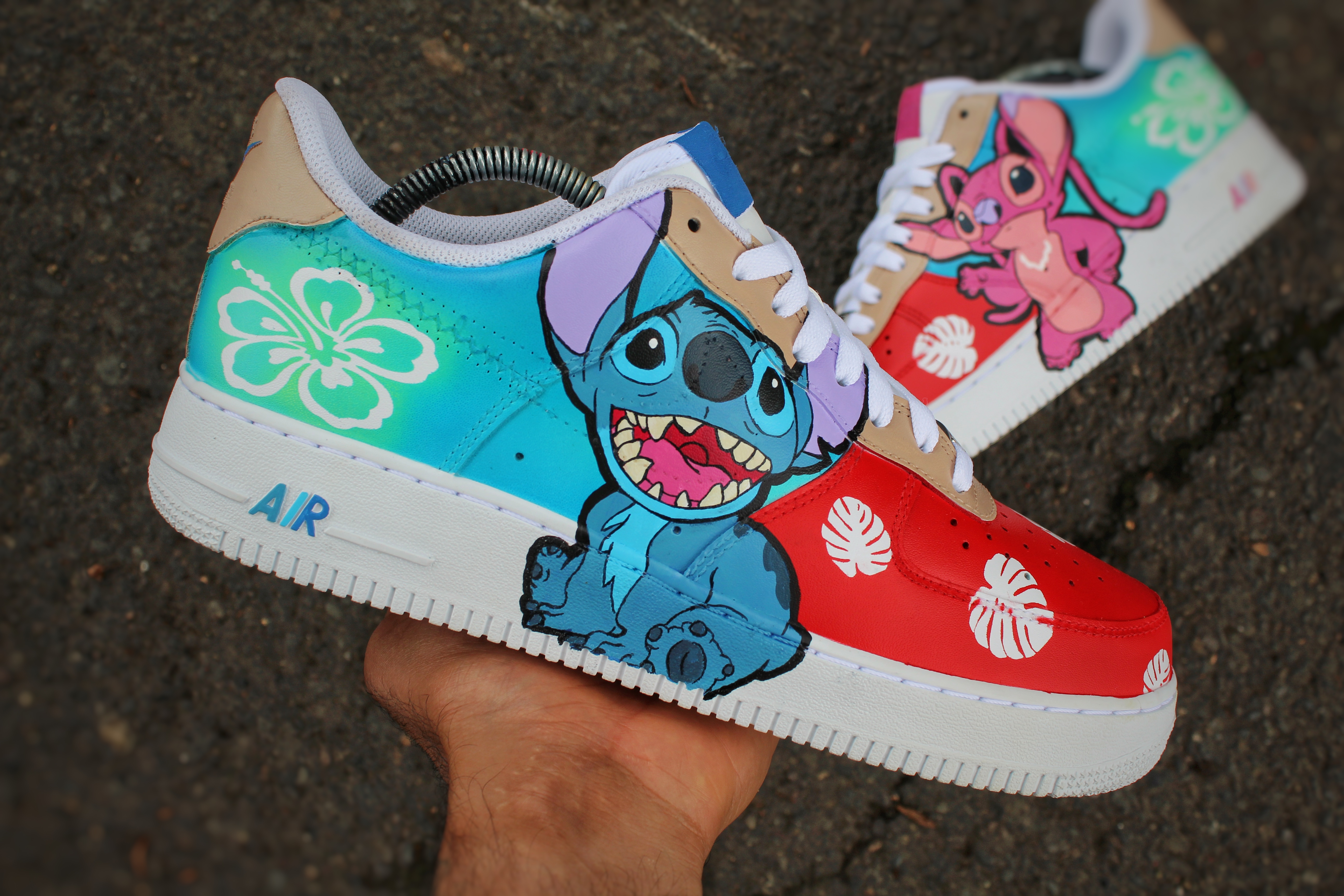 air force 1 di stitch