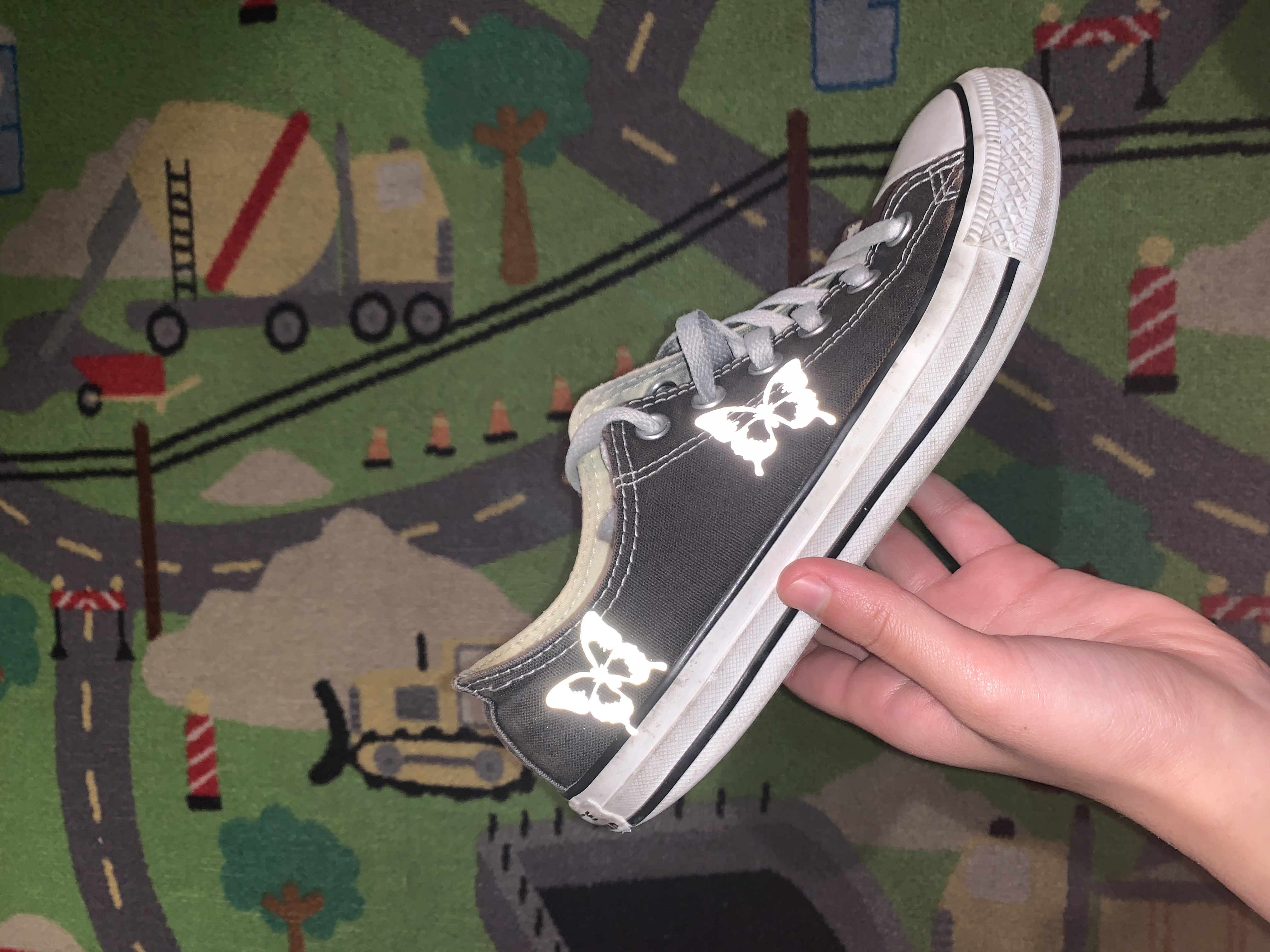Reflective Butterfly Converse | THE CUSTOM MOVEMENT