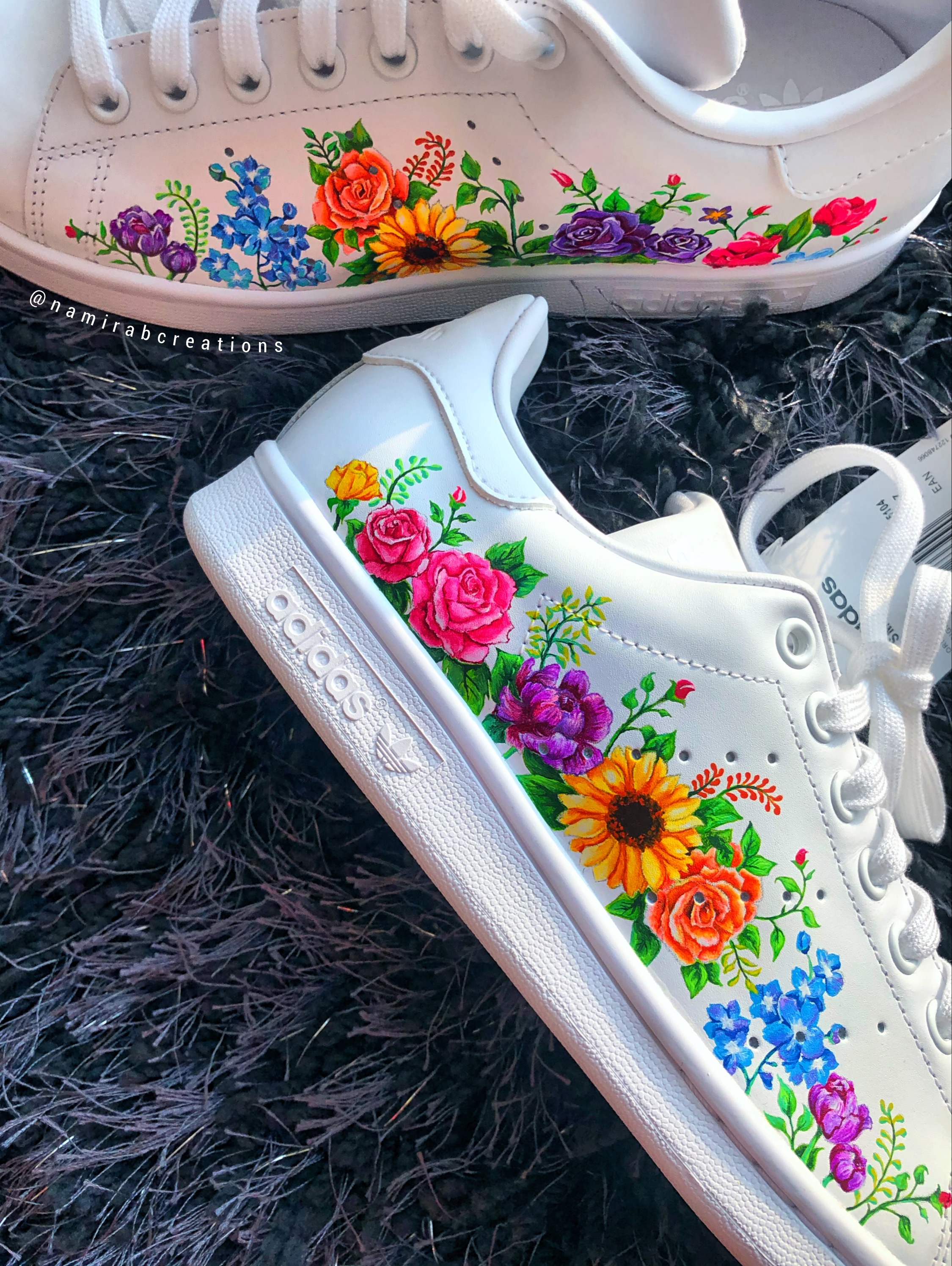 adidas stan smith flowers