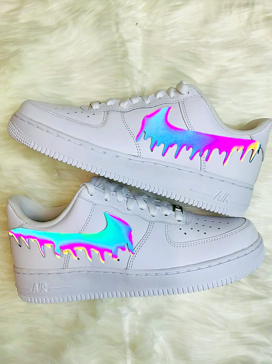 Rainbow Reflective Drip Air Force 1
