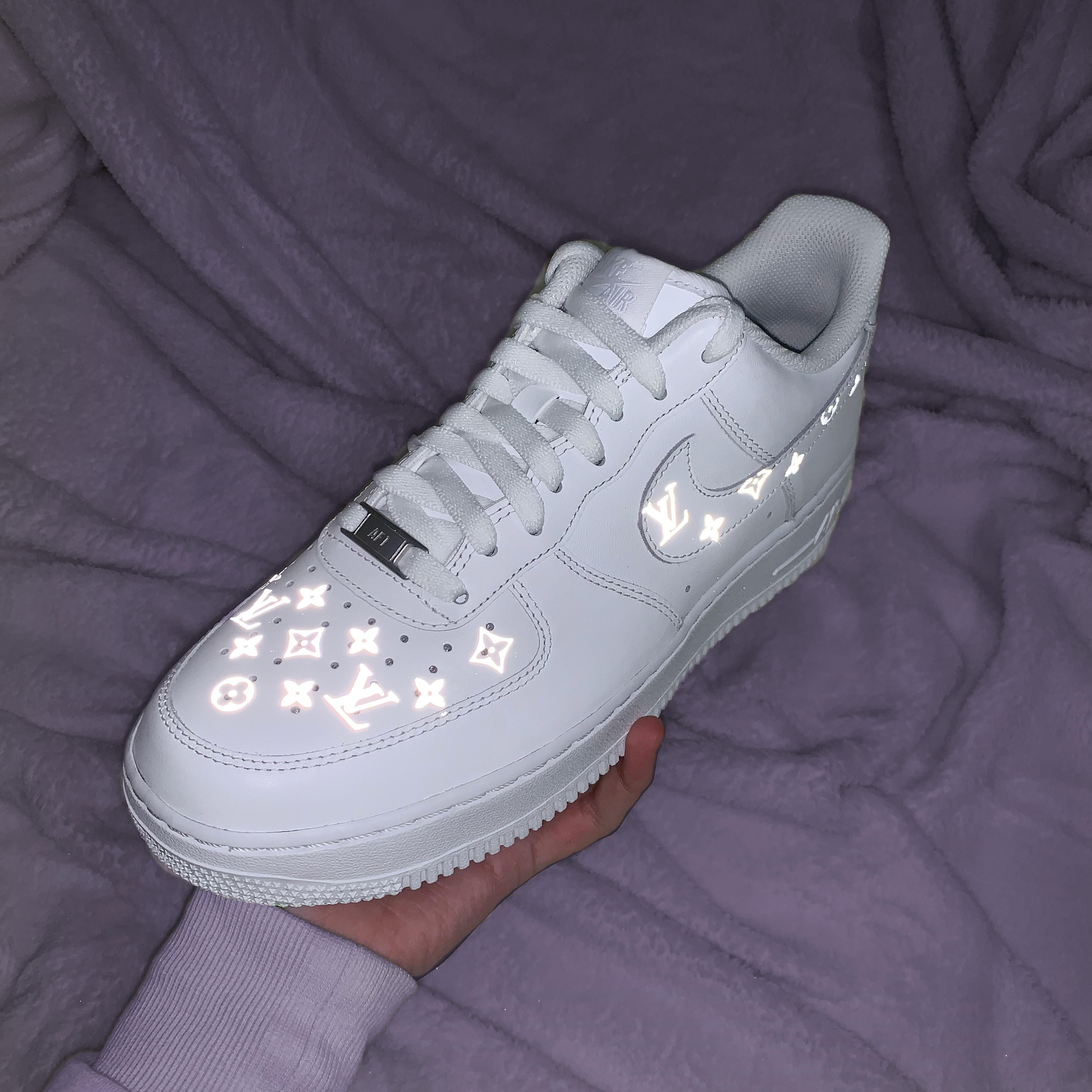 Reflective Louis Vuitton Pattern Nike Air Force 1 The Custom