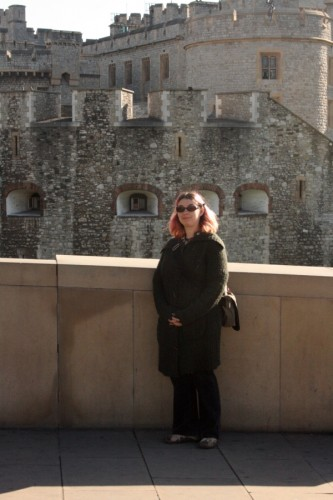 Me....at the Tower of London, obvi.
