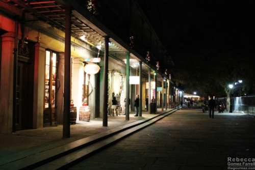 Row of shops bordering Jackson Square.