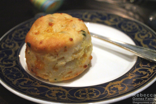 The Fairview Dining Room's cheddar biscuits. Love that china!