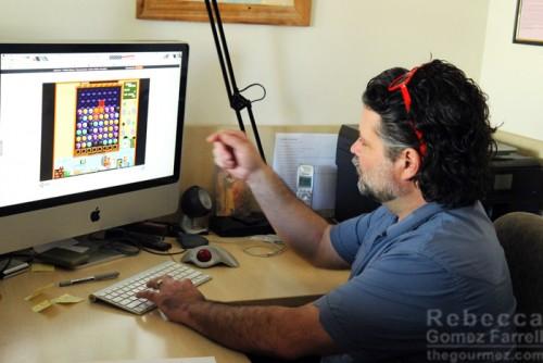 Brad demonstrating the game.
