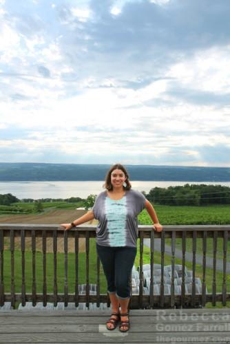 Me at Chateau LaFayette Reneau's deck.