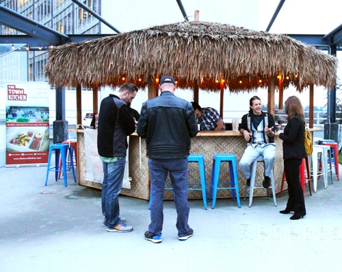 Tiki bar at the rooftop Marketplace