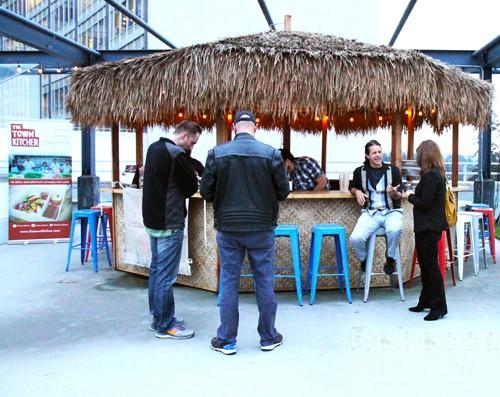 Tiki bar at the rooftop Marketplace