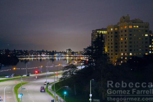 Lake Merritt night view from Port Workspaces