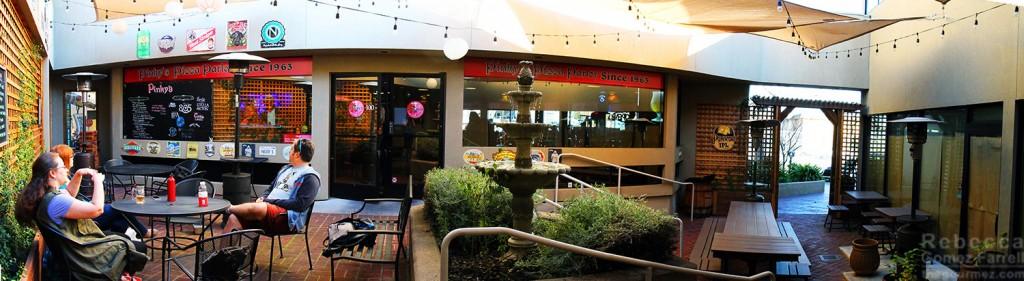 Pinky's Pizza beer garden patio