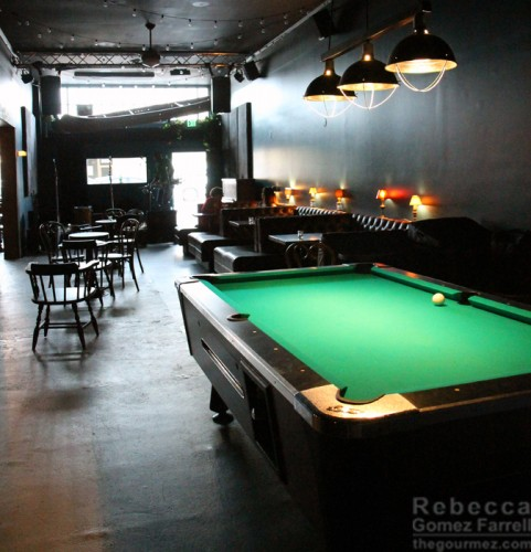 Ivy Room Pool Table and Booths