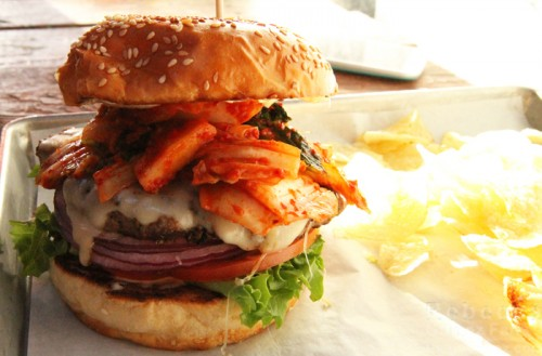 The Kono Kimchi burger at Telegraph Beer Garden
