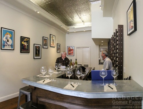 Inside Victor HIlls' tasting room, downtown Sonoma