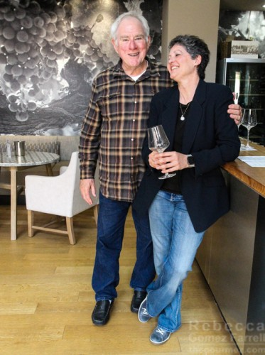 Henry Matthes and Passaggio's winemaker, Cynthia Cosco.