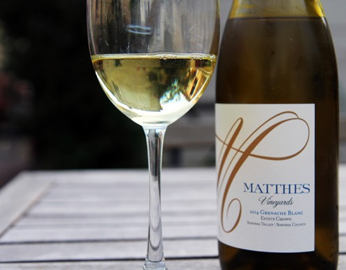Henry Matthes Vineyards grenache blanc 2014