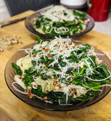 Angel Hair with Lemon Kale Pecans