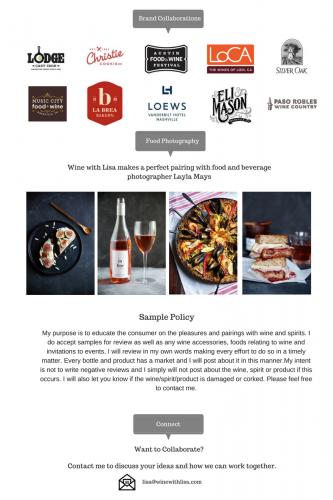 Wine with Lisa Media Kit