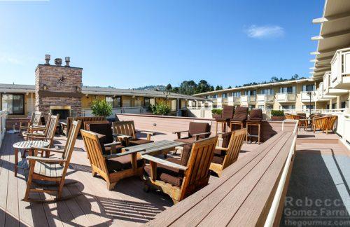 Roof deck at the Lodge at TIburon