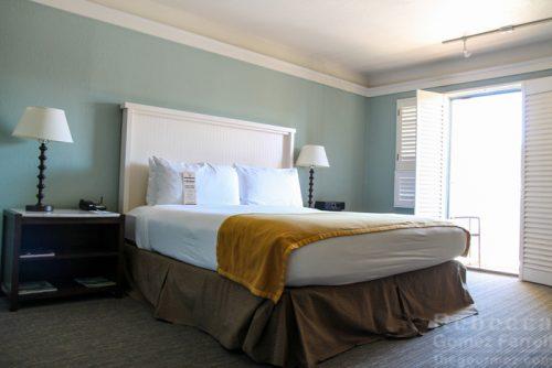 King bed at the Lodge at Tiburon