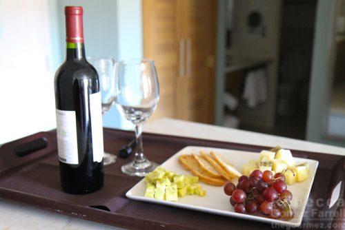 Cheese plate wine Lodge at Tiburon