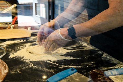 Pizza making at Persona Pizzeria