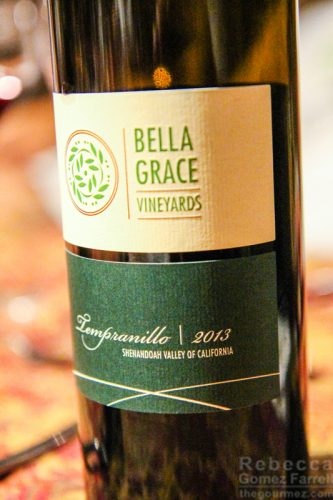 Bella Grace Vineyards tempranillo