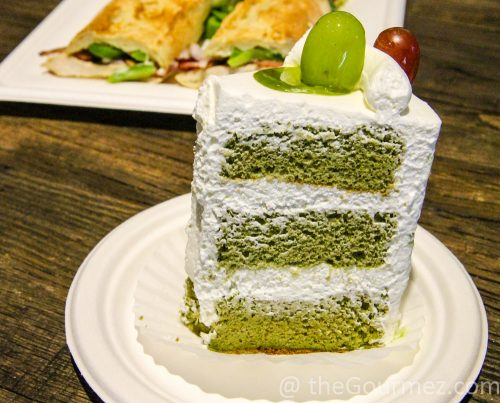 Paris Baguette green tea chiffon