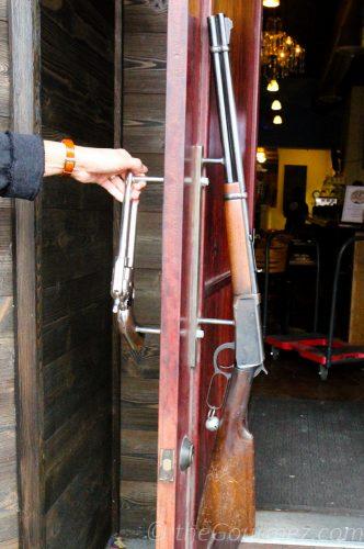 Horse Heaven Hills Brewery and Saloon gun door handle