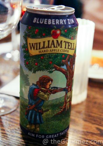 William Tell Cider Blueberry Zin