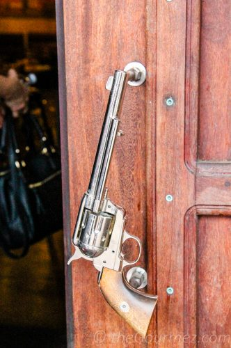 horse heaven saloon downtown prosser door handle gun