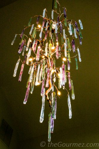 chandelier wine o'clock vintner's village pastels