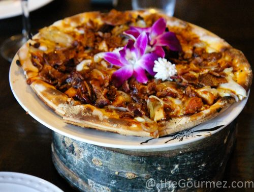 barbecue pizza the dancing fox lodi food