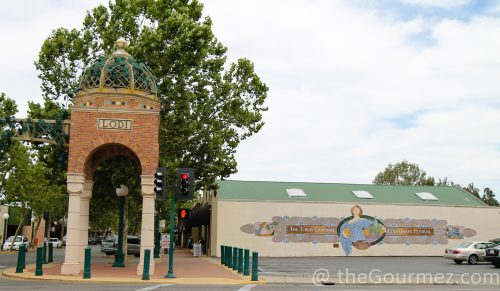 The Tokay Carnival mural leading into downtown Lodi. walldogs