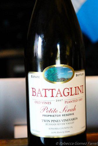 battaglini wine, petite sirah