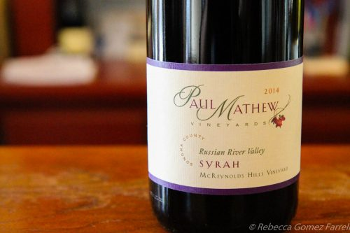paul mathew, wine road, winery, graton, syrah