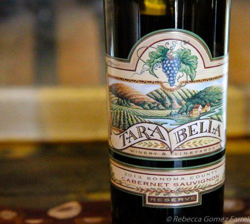 wine road, tara bella, winery, reserve, cabernet sauvignon