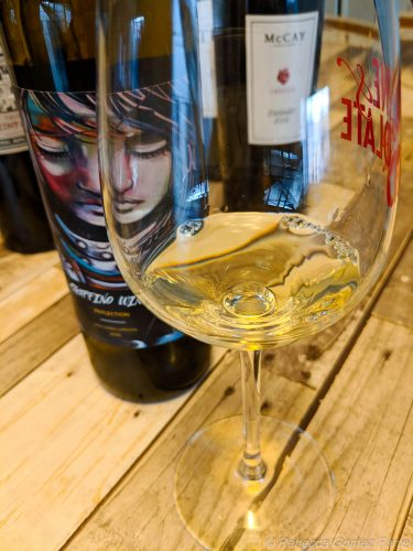 graffino wine, white wine, reflection