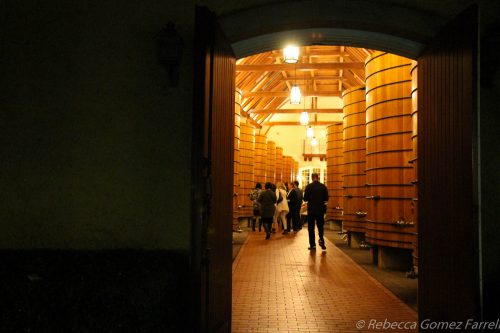 jordan winery, barrel room
