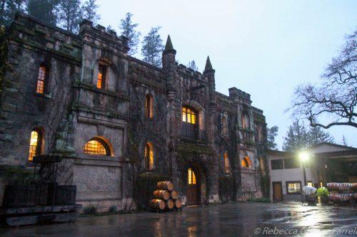 chateau montelena, rain