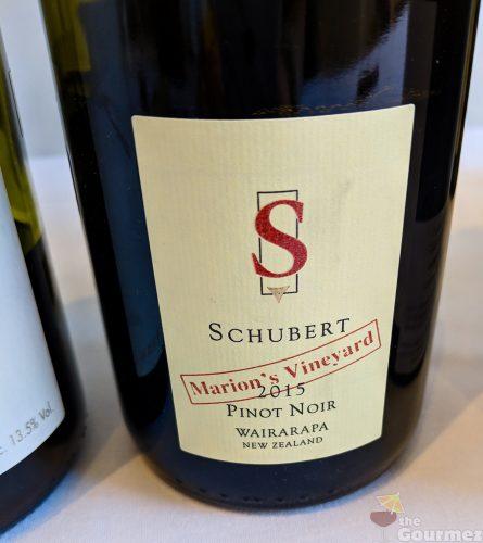 New Zealand wine, wine, tasting notes, schubert, pinot noir