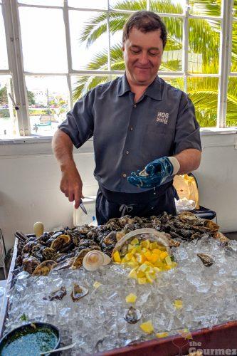 hog island, oyster, shucking oysters