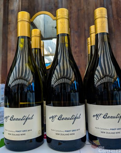 Mt. Beautiful wine, pinot gris, vertical tasting